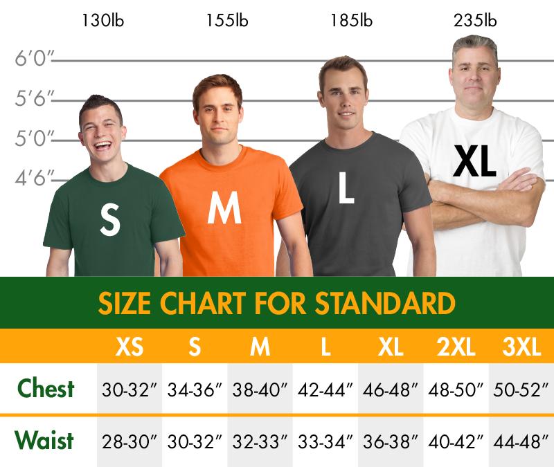 Standard sizechart