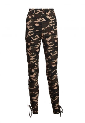 A MIRAGE SIDE LACE UP CAMO LEGGINGS