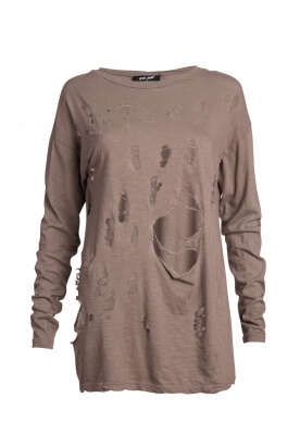 BANTER DISTRESSED LONG SLEEVE TOP