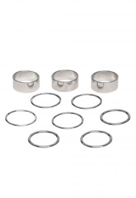 RINGS SET IN SILVER