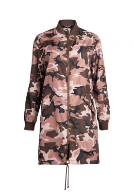 AT EASE CAMOFLAGE LONG LINE JACKET