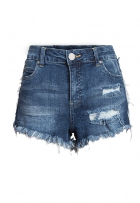 SAND AND WATER DISTRESSED DENIM SHORTS