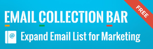 Email Collection Bar | Grow Customer Email List