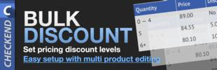 Bulk Pricing · Quantity Discount Tier Levels
