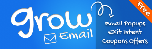 Grow Email Popup · Exit Intent Pop-Up Window