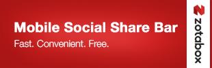 Mobile Messaging & Social Share Bar
