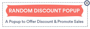 Random Discount Pop-up