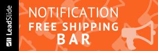 Coupon Notification Social Media Free Shipping Bar