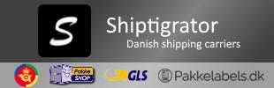 Shiptigrator - GLS Pakkeshop, Post Danmark and Pakkelabels.dk Integration