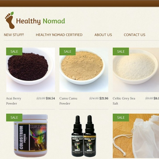 JCSmith Consulting LLC - Ecommerce Marketer - HealthyNomad is an superfood and supplement website. They needed help with SEO and we delivered.