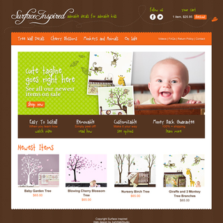 AshWebStudio - Ecommerce Designer / Setup - Kids wall decals