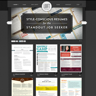 EvolutionDesign - Ecommerce Designer / Setup - Loft resumes needed a complex design pulled of with a styling letter press twist.