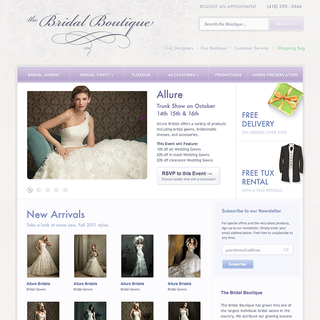 Sunrise Design - Ecommerce Designer - Design/development for an online bridal boutique.