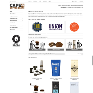 uAfrica Technologies (Pty) Ltd - Ecommerce Developer / Marketer / Setup Expert - Freshly roasted coffee beans store