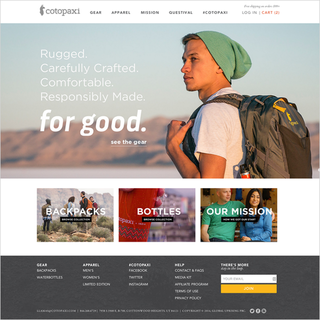 Envision - Ecommerce Designer / Marketer / Setup Expert - Cotopaxi.com - Gear For Good