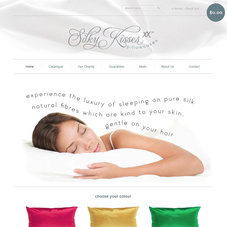Silky Kisses: Silk pillow cases