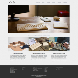 Rawsterne Web Design & Illustration - Ecommerce Designer / Developer / Setup - OREE - Wood + Tech + Design