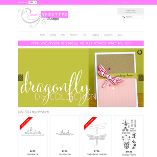 Rawsterne Web Design & Illustration - Ecommerce Designer / Developer / Setup Expert - Clearly Besotted Stamps
