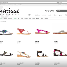 Matisse Footwear Product Landing