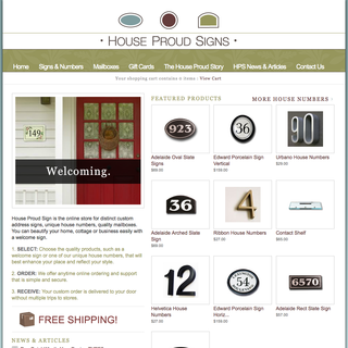 Razorbraille Creative Inc. - Ecommerce Designer - House Proud Signs e-store