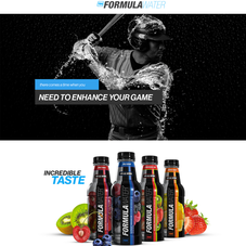 A custom Shopify Design and checkout experience for Formula Water.