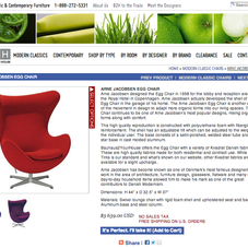 Product page for Bauhaus2YourHouse.com, a classic and contemporary furniture retailer