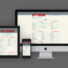 A restaurant site built fully responsive for optimal viewing on any device