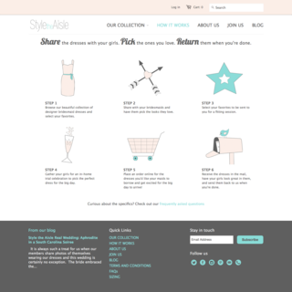 sineLABS - Ecommerce Designer / Developer - Style the Aisle storefront