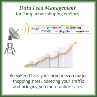 VersaFeed - Ecommerce Marketer - VersaFeed lists your inventory on shopping engines.