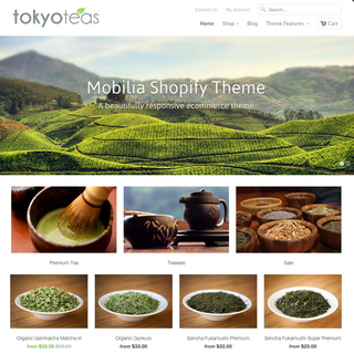 Out of the Sandbox - Ecommerce Designer / Developer - Tokyo Teas with the Mobilia Theme