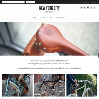 Out of the Sandbox - Ecommerce Designer / Developer - New York Bicycles with the Responsive Theme