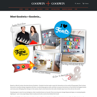 Goodwin Studio - Ecommerce Designer - G+G About Us