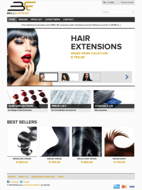Hair Extensions Website templates - Ecommerce Hair Extensions ...
