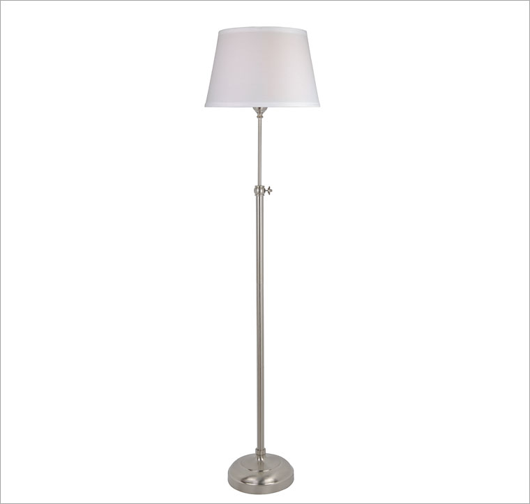 Brushed Nickel 1 Light Floor Lamp At 123inkcartridges Canada