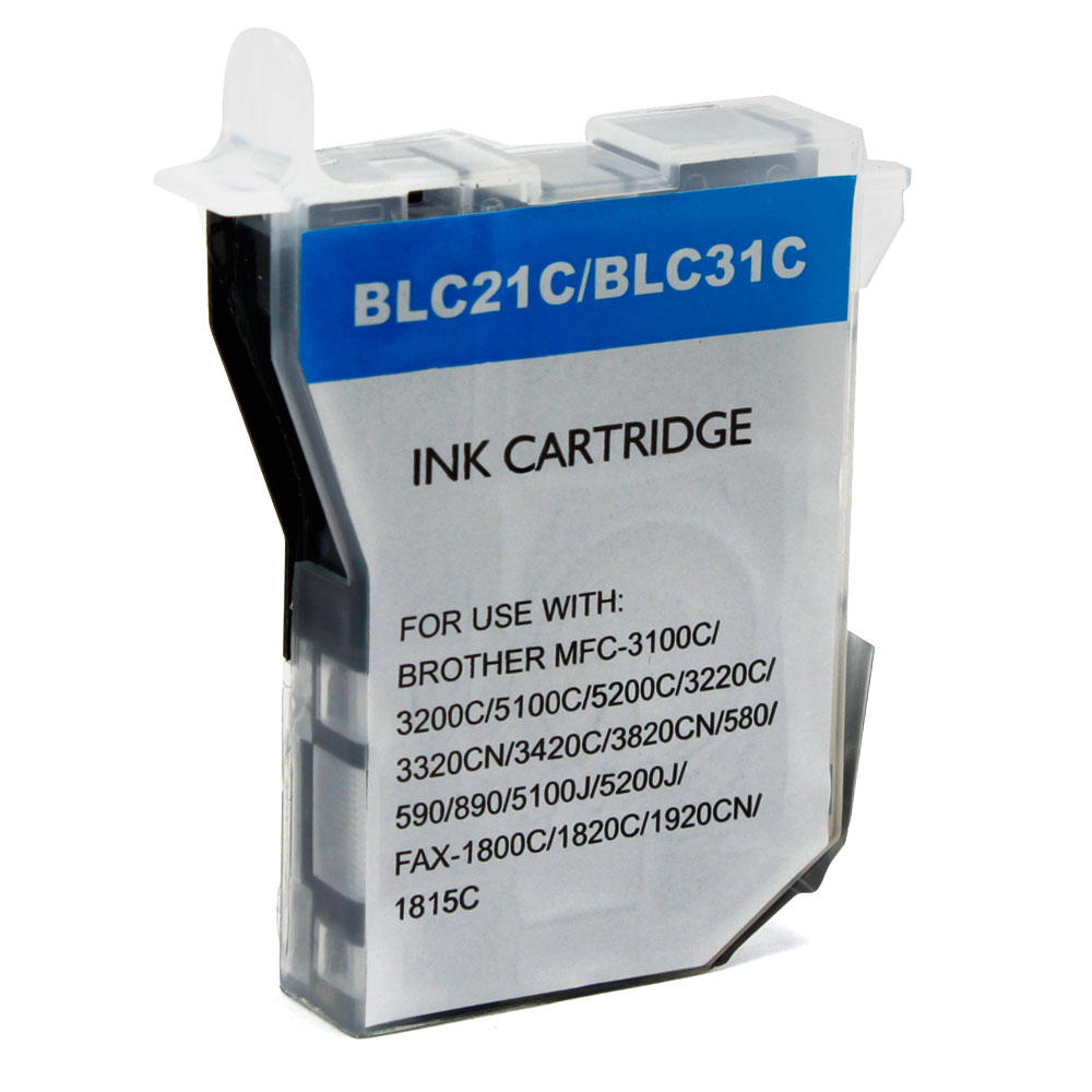 Brother LC31C New Compatible Cyan Ink Cartridge At