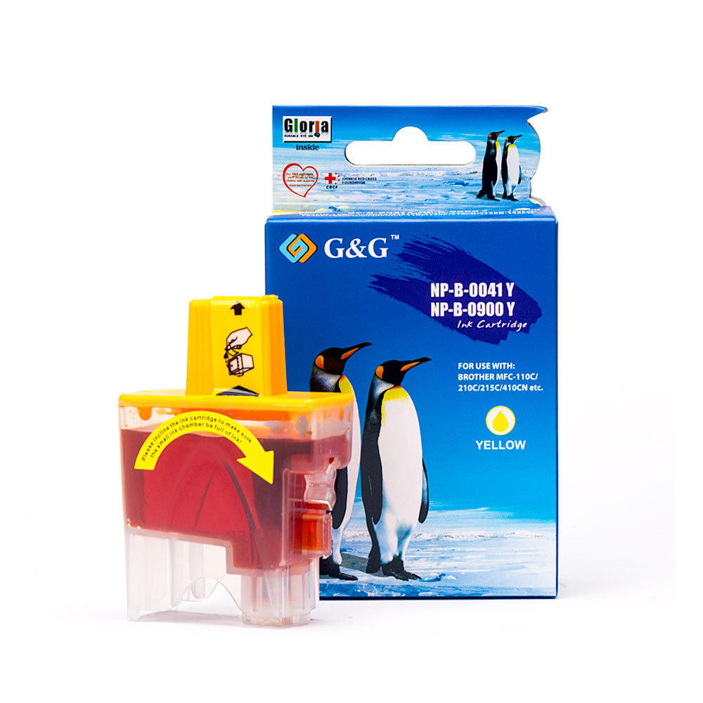 Brother LC41Y New Compatible Yellow Ink Cartridge - G&G