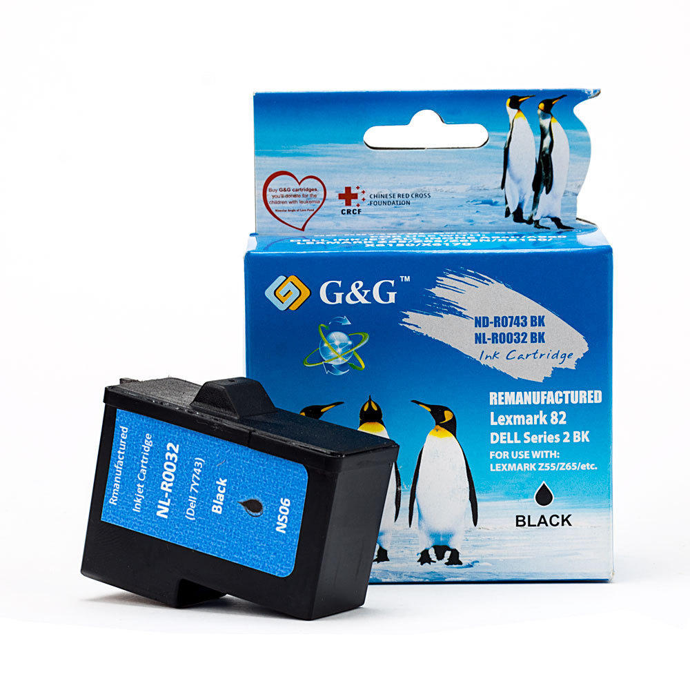 Lexmark #82 Remaufactured Black Ink Cartridge (18L0032) - G&G