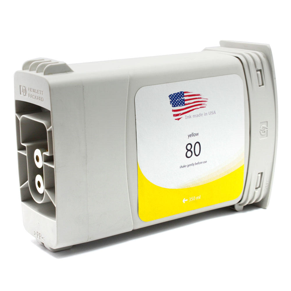 HP 80XL C4848A Remanufactured Yellow Ink Cartridge (High Yield)