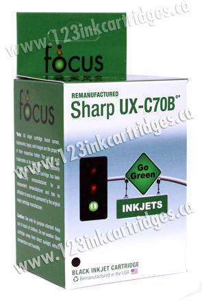 Sharp UX-70 Remanufactured Black Ink Cartridge