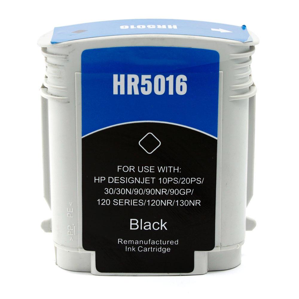 HP 84 Remanufactured Black Ink Cartridge (C5016A)
