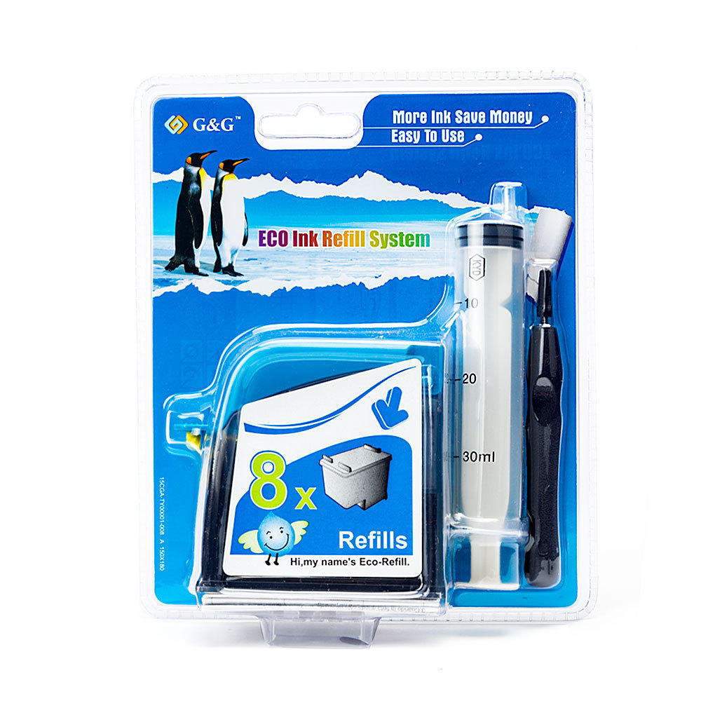 G&G Premium Eco-Refill Canon PG-30/40/50 Black Ink Cartridge Refill Kit