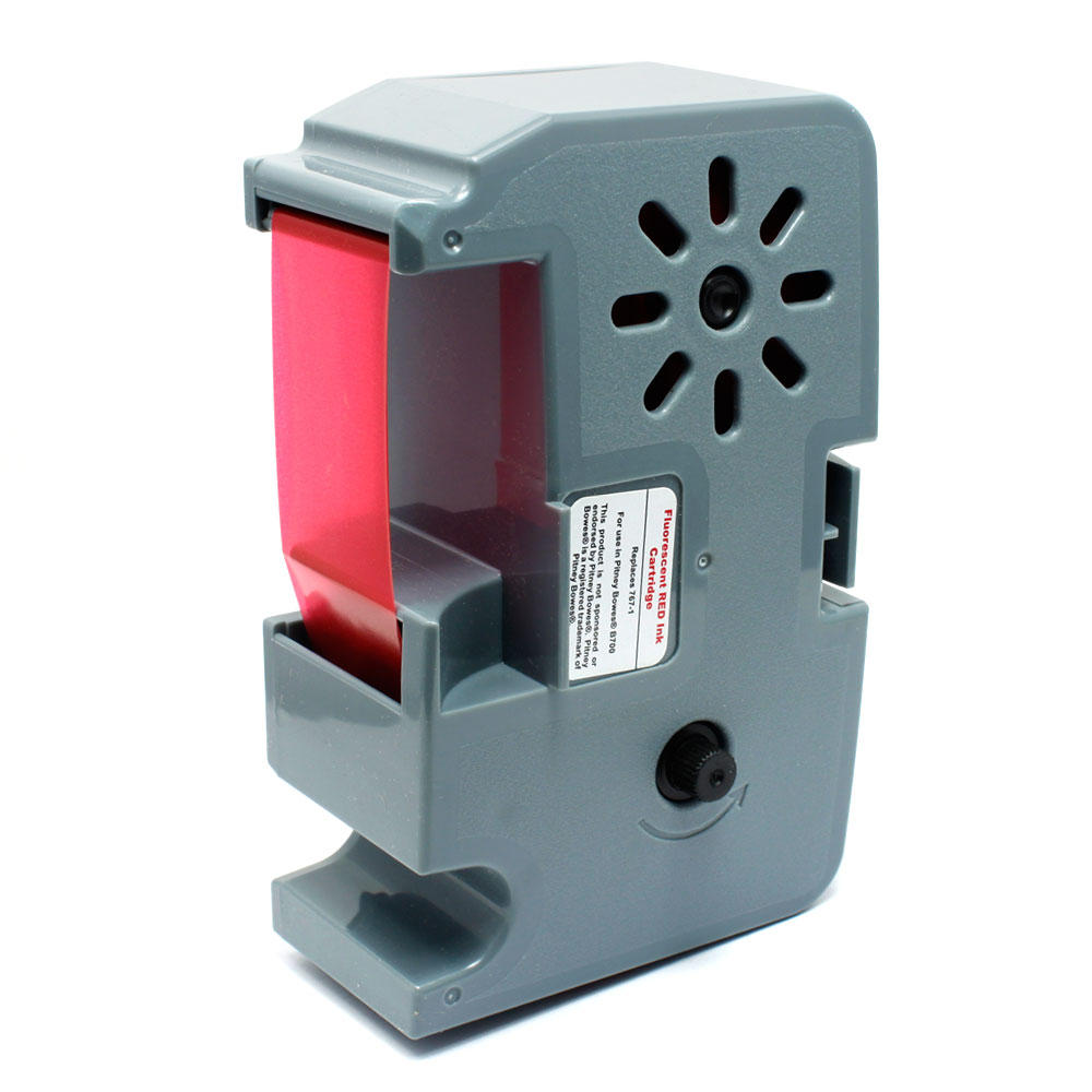 Pitney Bowes 767-1 New Compatible Red Fluorescent Ribbon