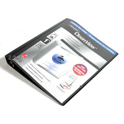 "Wilson Jones 1""  Flexible Black Poly Ring Binder (8.5"" x 11"")"