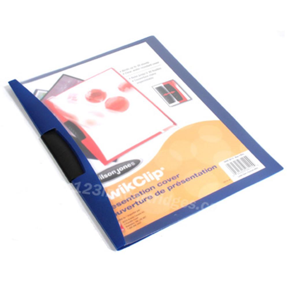 Wilson Jones Kwik-Clip XS Report Covers, 30 Sheets Capacity, 1 cover per pack
