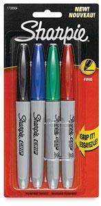 Sharpie Grip Marker, 4/pack