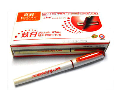True Color Dazzle White Gel Pen Red Value Pack 12/Pack (670-0.5mm)
