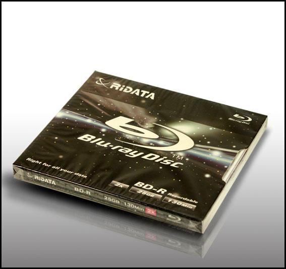 RiDATA 25GB 2X BD-R Single Jewel Case Disc Model
