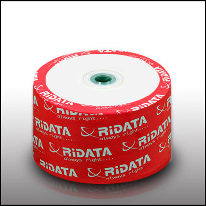 Ritek Ridata White Inkjet Hub Printable 52X CD-R Blank Media 50