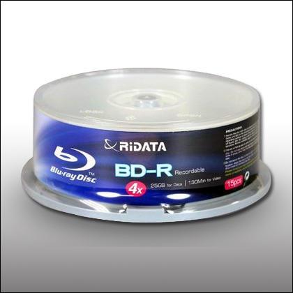 RIDATA 4X BLU-RAY WHITE HUB INKJET 25pcs Cake Box