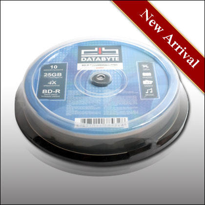 DATABYTE 4X BD-R 25GB SHINY 10pcs Cake Box